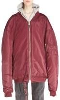Vetements Women's Reworked Nylon Bomber Jacket