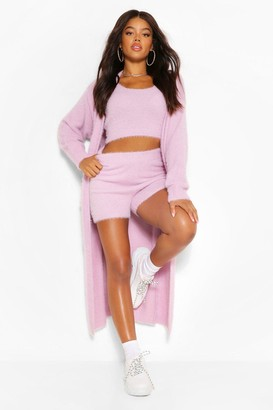 boohoo Premium Fluffy Knit Maxi Cardigan