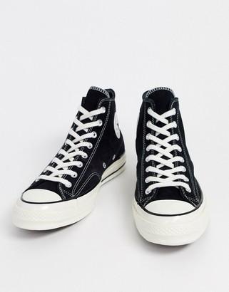 Converse chuck 70 hi sneakers in black suede