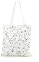 Forever 21 Cat Print Canvas Tote Bag