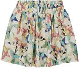 Stella McCartney Kids' Nat Star-Print Silk Skirt