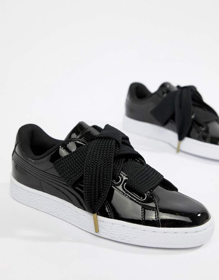 buy online 3b738 a8913 Basket Heart Patent Sneaker