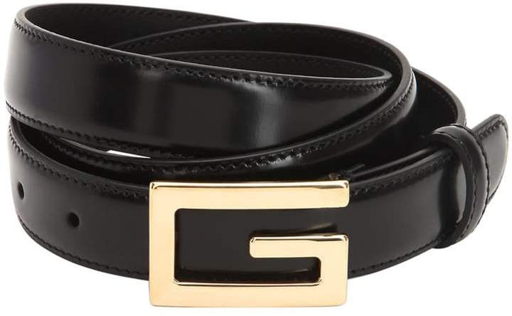 Gucci 25mm G-Cube Leather Belt
