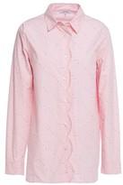 Ganni Weston Scalloped Floral-print Cotton-poplin Shirt