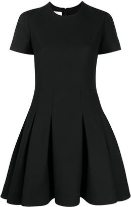 Valentino Pleated Flared Mini Dress