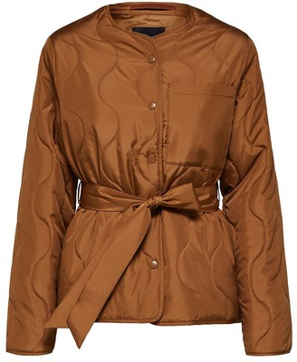 Selected Toffee Brown Alta Quilted Jacket - Toffee / 34