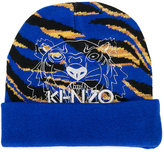 Kenzo tiger pattern beanie