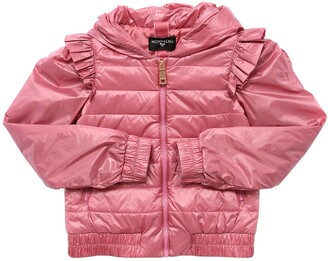 MonnaLisa Hooded Nylon Down Jacket