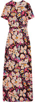 MSGM Printed Stretch-crepe Gown - Pink