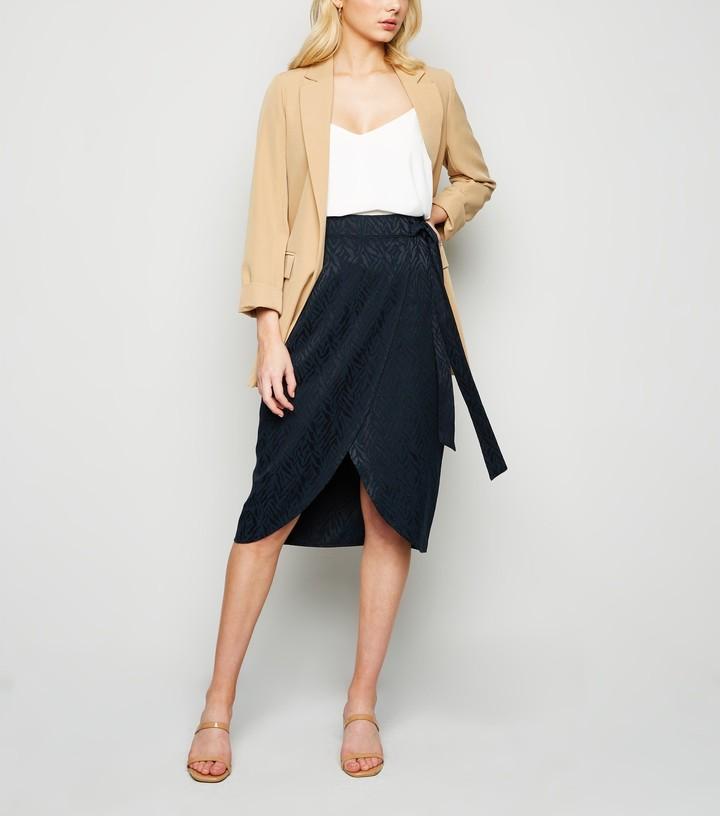 New Look Tiger Jacquard Wrap Skirt