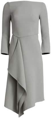 Roland Mouret Clover Off-The-Shoulder Wool Sheath Dress