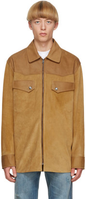 Acne Studios Tan Suede Zip Jacket
