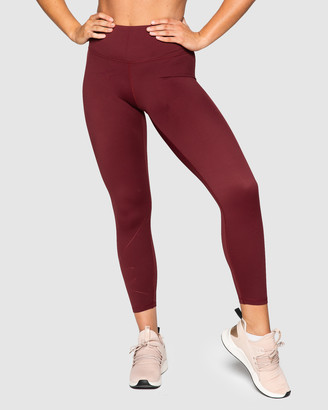 Muscle Republic - Women's Red 7/8 Tights - Inspire 7-8 Leggings - Size One Size, S at The Iconic