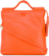 Tory Burch tassel detail flat tote - women - Cotton/Leather - One Size