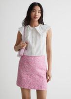 Thumbnail for your product : And other stories Floral Linen-Blend Mini Skirt