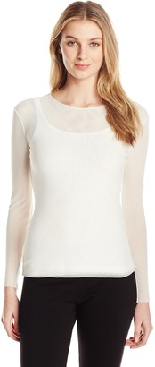 Only Hearts Women's Tulle Long Sleeve Crew