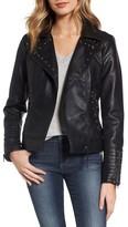 Steve Madden Women's Studded Faux Leather Biker Jacket