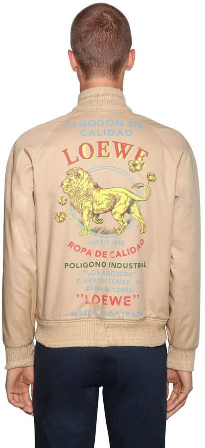 Loewe Reversible Print Cotton Bomber Jacket