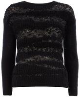 Dorothy Perkins Black textured yarn jumper