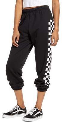 Sub Urban Riot Sub_Urban Riot Checkered Stripe Crop Sweatpants