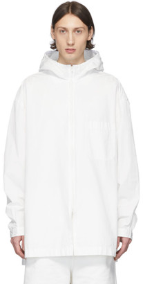 Y-3 White Heavy Poplin Hooded Shirt