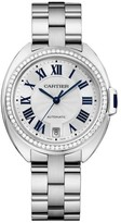 Cartier Cle De WJCL0007 18K White Gold and Diamonds Automatic 35mm Watch