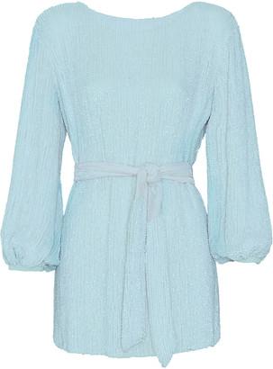 retrofete Grace Belted Georgette Mini Dress