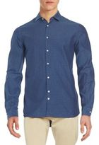 J. Lindeberg Slim-Fit Printed Sportshirt
