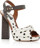 Dolce & Gabbana Polka-Dot Sandals