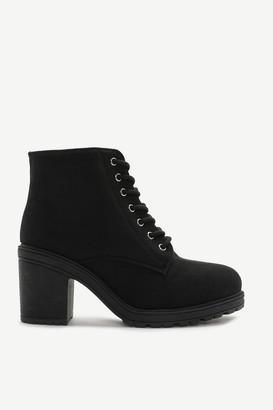 Ardene Track Heel Ankle Boots