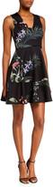 Ted Baker Wrapel Highland Floral V-Neck Skater Dress