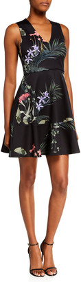Ted Baker Wrapel Highland Floral V-Neck Skater Dress