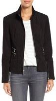 Vince Camuto Women's Suede Zip Front Jacket