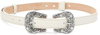 Acne Studios Audrey Leather Belt - White