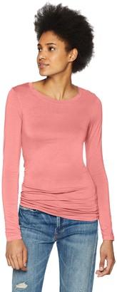 Three Dots Women's Refined Jersey Long Sleeve Short Tight top