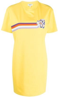 Kenzo logo stripe T-shirt dress