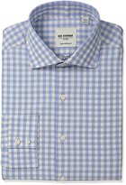 Ben Sherman Men's Slim Fit Exploded Gingham Spread Collar Dress Shirt