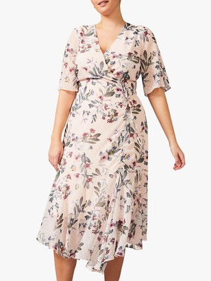 Studio 8 Wendy Floral Wrap Dress, Blush/Multi