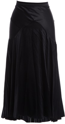 Blumarine Black Silk Skirt for Women