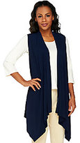 George Simonton Crystal Knit Cascade Front Asymmetrical Vest