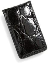 Boconi Men's Crocodile Magnetic Money Clip - Black