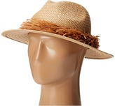 BCBGMAXAZRIA Straw Fringe Panama Caps