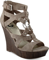 G by Guess Dodge Platform Wedge Sandals
