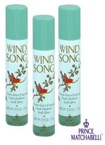 Prince Matchabelli WIND SONG BODY SPRAY - PACKAGE OF 3