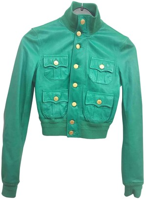 DSQUARED2 Green Leather Leather Jacket for Women