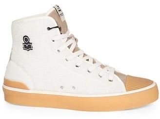 Isabel Marant Benkeen Faux-Shearling High-Top Sneakers