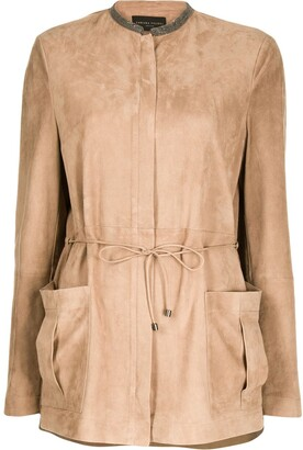 Fabiana Filippi Tie-Waist Patch-Pocket Jacket