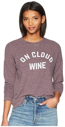 The Original Retro Brand On Cloud Wine Super Soft Haaci Pullover (Dark Maroon) Women's Clothing