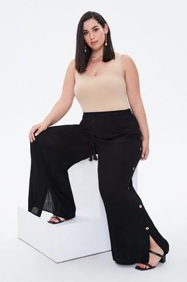 Forever 21 Plus Size Slit-Leg Crinkle Pants