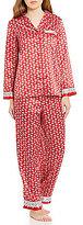 Cabernet Petite Geometric Satin Pajamas